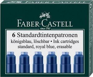 Faber-Castell NABOJE ATRAMENTOWE KRÓTKIE NIEBIESKIE 6 SZT. KARTONIK (185506 FC)