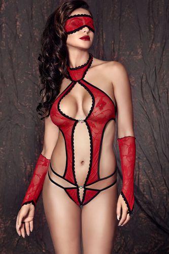 Anais Body Ashley czerwone r. XL + rękawiczki + opaska na oczy GRATIS!