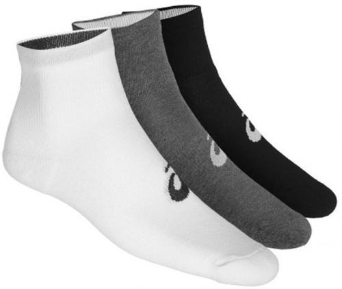Asics Skarpety stopki 3PPK Quarter Sock White/Grey/Black r. 43-46 (155205-701)