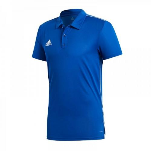 Adidas Koszulka piłkarska CORE 18 Polo niebieska r. XXL (CV3590)
