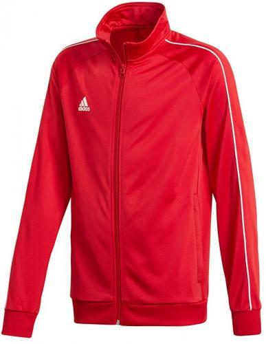 Adidas Bluza juniorska CORE 18 PES JKTY czerwona r. 164 cm (CV3579)