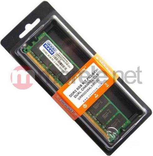 Pamięć GoodRam DDR2 2x4GB 800MHz CL.5 (GR800D264L5/8GDC)