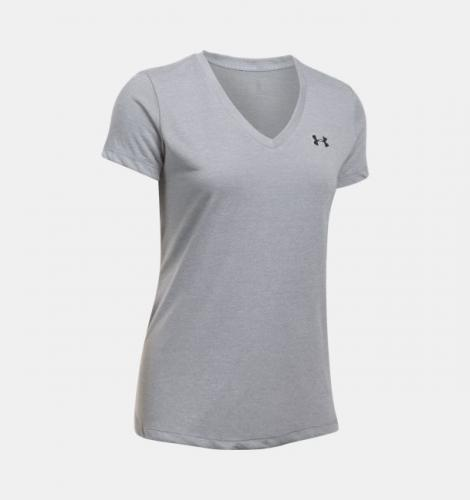 Under Armour Koszulka damska Threadborne Train SSV Twist szara r. XS (1289650-035)