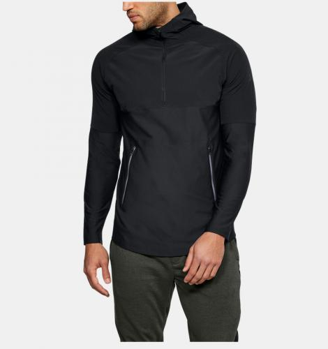 Under Armour Bluza męska Threadborne Vanish Popover czarna r. S (1306419-001)