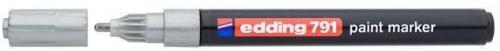 Edding Marker lakierowy, okrągła końcówka 1-2MM srebrny (791/054/S ED)