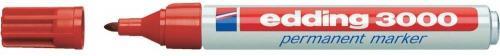 Edding Marker permanentny, okrągła końcówka 1,5-3MM czerwony (3000/002/CZ ED)