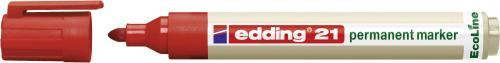 Edding Marker permanentny, ekologiczny,okrągła końcówka, czerwony (21/002/CZ ED)