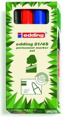 Edding Markery permanentne Eko 4 sztuki różne kolory