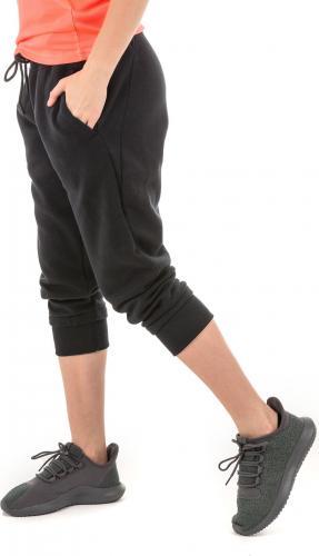 Under Armour Spodnie damskie Slim leg Fleece Crop czarne r. S (1320610-001)