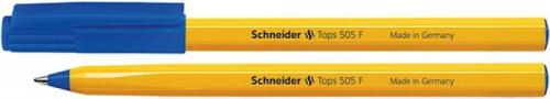 Schneider DŁUGOPIS TOPS 505 F NIEBIESKI OBUDOWA ŻÓŁTA (SR150503)