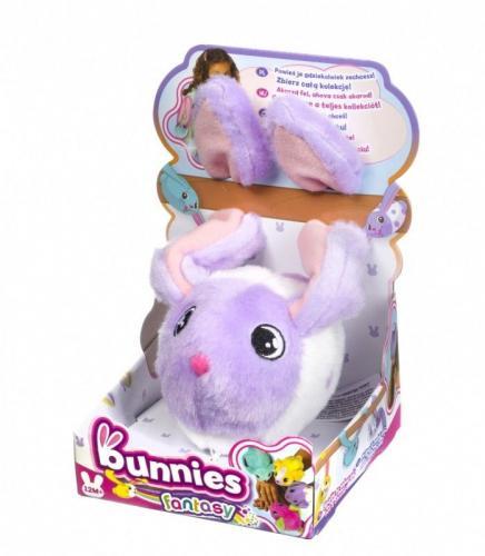 Tm Toys BUNNIES FANTASY Króliczek magnetyczny fioletowo-biały