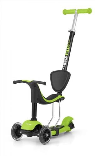 Milly Mally  Hulajnoga Scooter LITTLE STAR Zielona ML-1594