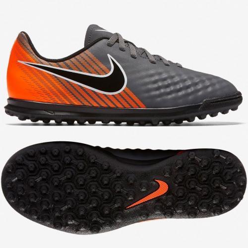 Nike Buty piłkarskie JR Magista ObraX 2 Club TF szaro-pomarańczowe r. 35.5 (AH7317-080)