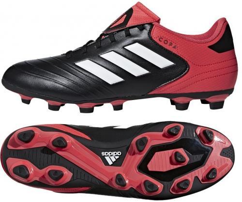 Adidas Buty piłkarskie Copa 18.4 FxG czarno-czerwone r. 41 1/3 (CP8960)