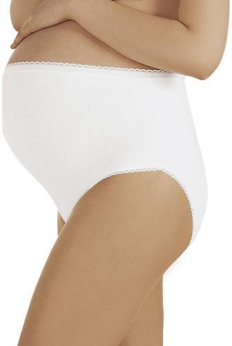 Italian fashion Majtki ciążowe Mama Maxi białe 2XL