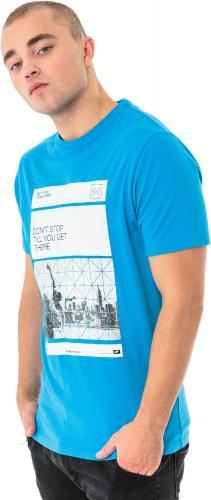 4f Koszulka męska H4L18-TSM027 niebieska r. M