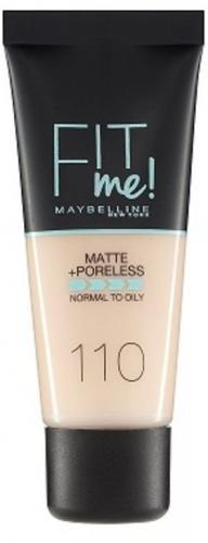 Maybelline  Fit Me Liquid Foundation matujący podkład do twarzy 110 Porcelain 30ml