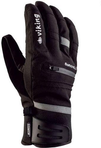 Viking rękawice narciarskie Kuruk czarno-szare r. 7 (112/16/1285/08/7)