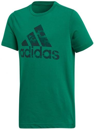 Adidas Koszulka chłopięca M BOS zielona roz. 128 cm (CV6145)