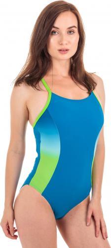 AquaWave Strój kąpielowy Gracja Imperial Blue/Gradient Print/Jasmine Green r. M