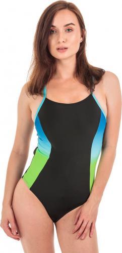 AQUAWAVE Strój kąpielowy Gracja Black/Bradient Print/Bachelor Button r. M