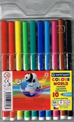 Centropen  Flamastry Colour world 10 kolorów (7550/10/TP-10)