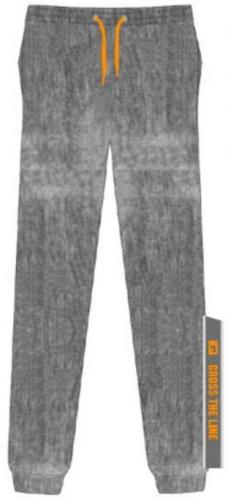 IQ Spodnie juniorskie NOTAR JR Grey Melange/ Bright Marigold r. 140