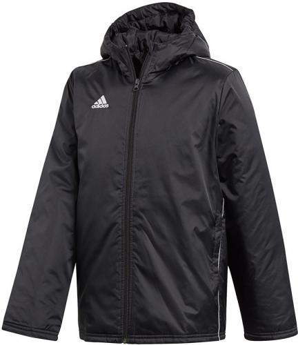 Adidas Kurtka piłkarska CORE 18 Junior STD JKT czarna r. 140 cm (CE9058)