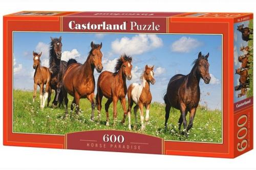 Castor Puzzle, 600 elementów - Konie  (GXP-626539)