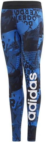 Adidas Legginsy juniorskie YG Lin Tight niebieskie r. 146 cm (CF7164)