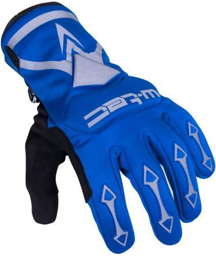 W-TEC Rękawice rowerowe i motocyklowe Belter B-6044 niebieskie r. XS (16307)