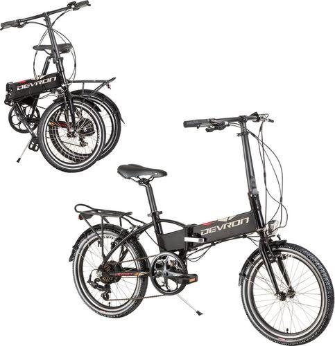 """Devron Składany rower elektyczny Devron 20124 20"""" - model 2017 Kolor Czarny - 2170124DH3560"""