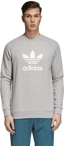 adc232f1119b6 Adidas Bluza męska Originals Trefoil Crew szara r. M (CY4573)