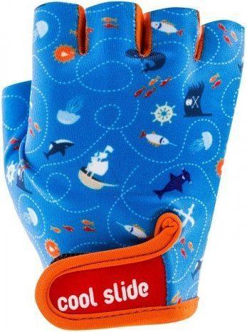 CoolSlide Rękawiczki rowerowe dziecięce Pirate Gloves niebieskie r. XS
