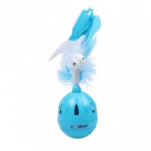 COOCKOO Zabwka dla kota Tumbler niebieska 19.5x7 cm