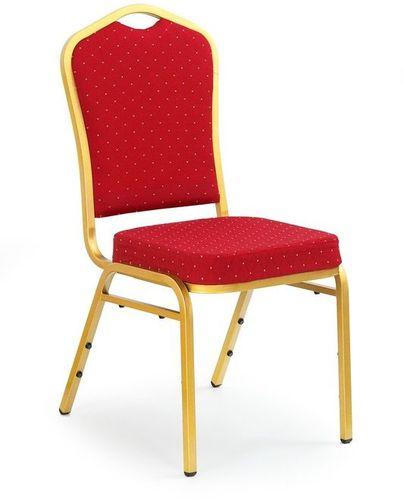 Halmar Krzesło K66 Bordowe, Stelaż Złoty