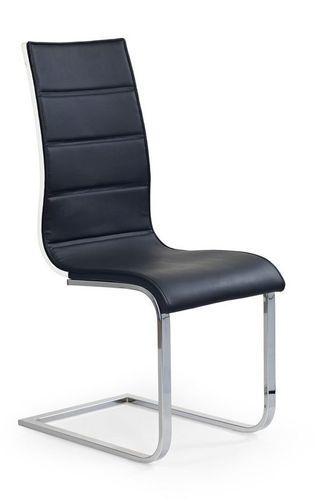 Halmar Krzesło K104  czarny/biały ekoskóra