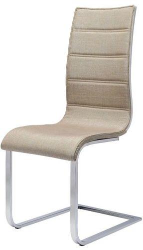 Halmar Krzesło K104 Beżowy/Biały Tkanina
