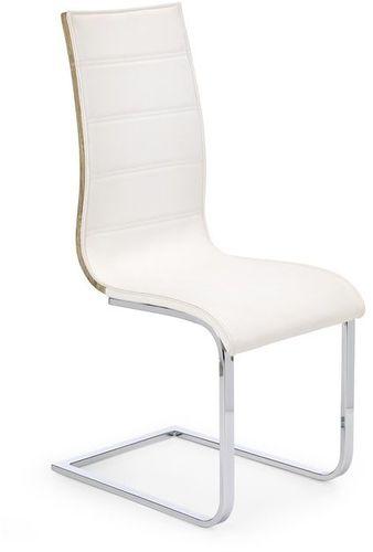 Halmar Krzesło K104 biały/sonoma ekoskóra