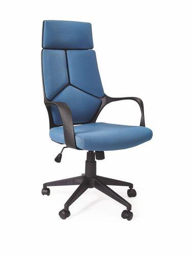 Halmar VOYAGER fotel gabinetowy czarny / niebieski