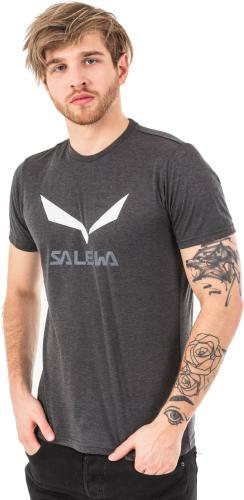 Salewa Koszulka męska Solidlogo Black Out Melange r. L (27018-0936)