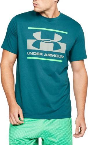 Under Armour Koszulka męska Blocked Sportstyle Logo Turquoise r. M (1305667496)