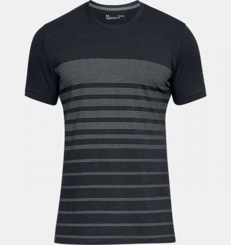 4180921593da4 Under Armour Koszulka męska Sportstle Stripe Tee czarna r. M (1310571-001)