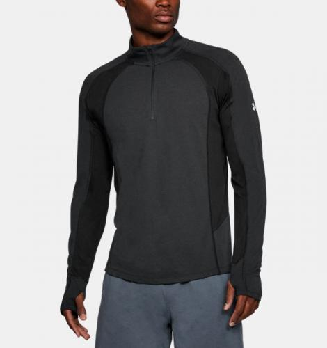Under Armour Bluza męska THREADBORNE SWFT 1/4 ZIP czarna r. S (1305207-001)