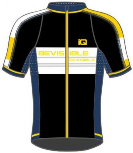 IQ Koszulka męska Tovi Black/ Navy Peony/ Cyber Yellow/ White r. L
