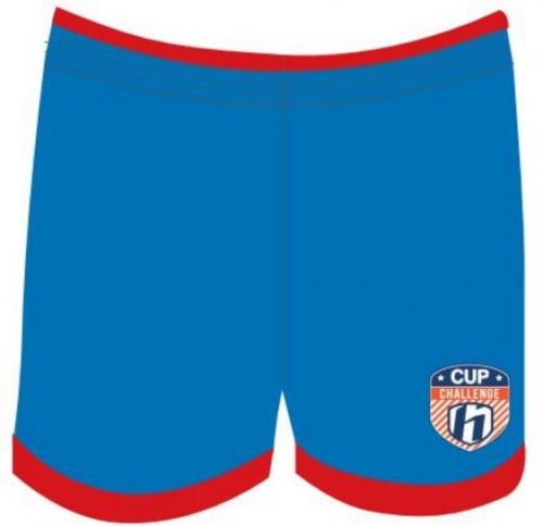 Huari Szorty juniorskie Kempes Junior Short French Blue/ Fiery Red r. 146