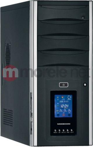Obudowa MODECOM AZA LCD czarno-srebrna bez zasilacza