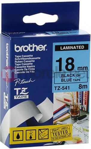 Brother taśma TZ-541 (black on blue)