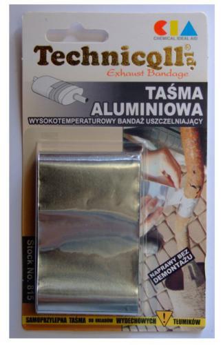 Technicqll Taśma aluminiowa wysokotemperaturowy bandaż uszczelniający 1,2m T-815