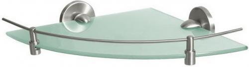 Bisk Półka narożna Virginia 25,5cm nikiel szczotkowany (72091)